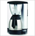 Capresso Plus 10-cup Coffeemaker with Metallic Alloy Body and Stainless Thermal Carafe