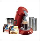 Senseo HD7890/95 Single-Serve Gourmet Coffee Machine Gift Pack, Red