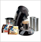 Senseo HD7890/65 Single-Serve Coffee Machine Gift Pack, Raven Black ,