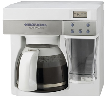Black & Decker Spacemaker 12 Cup Coffee Maker - White & Stainless Steel