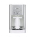 Cuisinart DCC-1200W Brew Central 12-Cup Programmable Coffee Maker, White and Stainless Steel