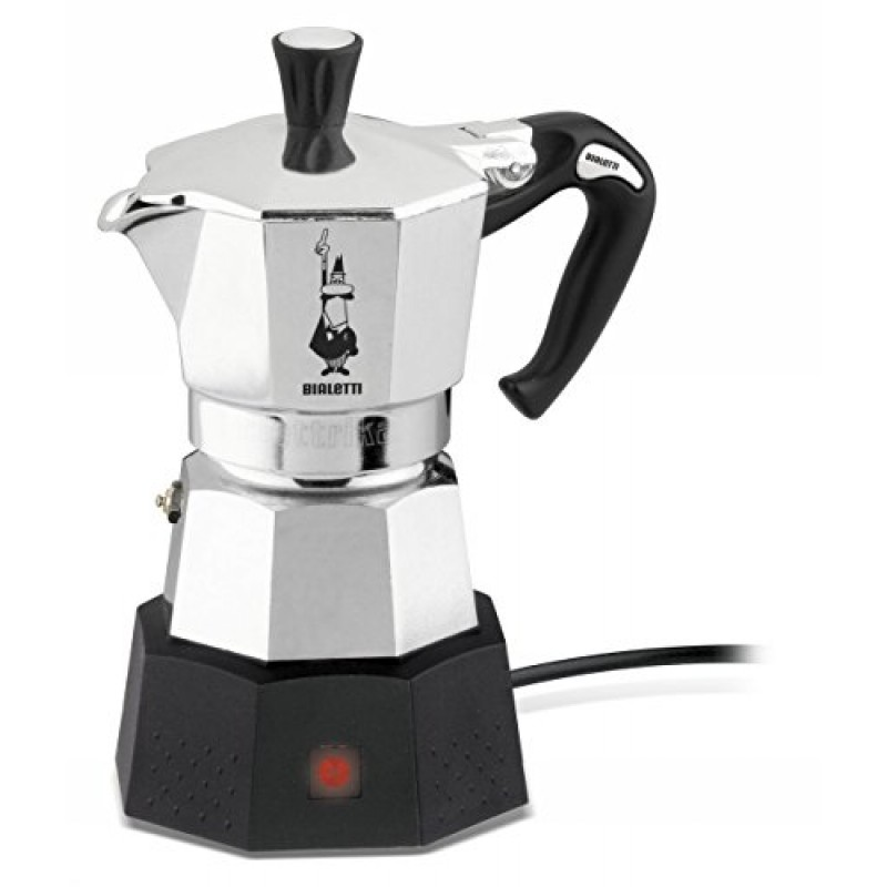 bialetti moka elettrika electric moka cheap coffee. Black Bedroom Furniture Sets. Home Design Ideas