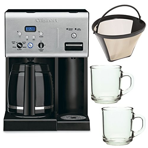 Farberware 5 Cup Coffee Maker Filter Size : Cuisinart CHW-12 12-cup Programmable Coffee Maker w/ Gold Tone Basket Coffee Filter and 2 Pieces ...