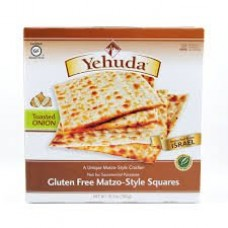 Yehuda Gluten Free Matzo-Style Crackers with Toasted Onion, Passover, 10.5-oz (Pack of 3)