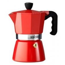La Cafetiere Red Classic 3 Cup Stovetop Espresso Maker