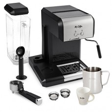 Mr. Coffee Café 20-Ounce Steam Automatic Espresso and Cappuccino Machine, Silver/Black