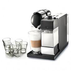 DeLonghi Lattissima Nespresso White Capsule Espresso and Cappuccino Machine with Free Set of 6 Glasses