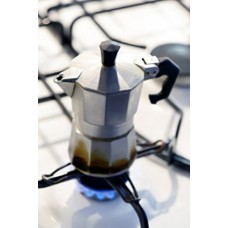 Stovetop Italian style Espresso Coffee Percolator Retro Black 3 cup