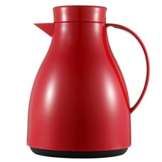 CUNEW 1-Liter Thermal Capacity Carafe, Insulated Thermal Coffee Pot, 35 Ounce Coffee Bottle, Thermal Carafe / Vacuum Jug Flask / Insulated Pot / Thermal Vacuum Carafe 7-Cup (Red)