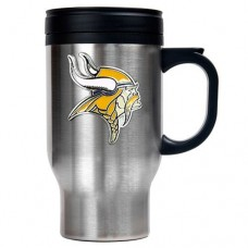 NFL Minnesota Vikings 16oz Stainless Steel Travel Mug (Primary Logo)