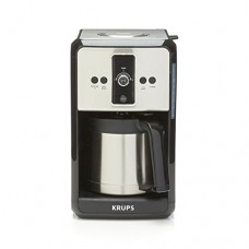 Krups Savoy Turbo 12-Cup Stainless Steel Coffee Maker ET451 with Thermal Carafe