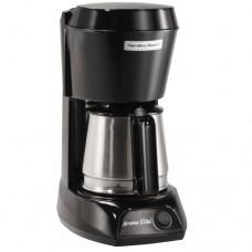 Coffeemaker, 4 Cup, Black/Silver