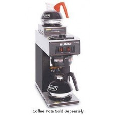 BUNN 13300.0012 Black Pourover Coffee Maker with 2 Warmers