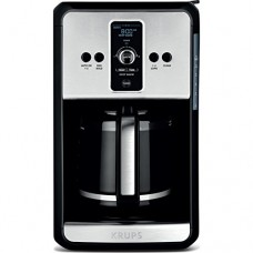 KRUPS, 12-Cup Programmable Turbo Filter Coffee Maker, Stainless Steel, Savoy EC414050
