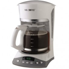 Mr. Coffee SKX20 12-Cup Programmable Coffeemaker, White