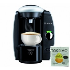 Bosch Tassimo T45 Beverage System and Coffee Brewer with Pack of T Discs, Black and Silver