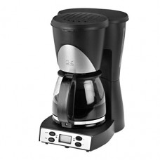 Programmable 10 Cup Black and Stainless Steel Coffee Maker-2Pack
