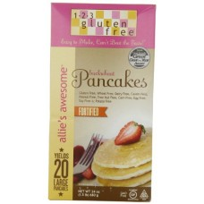 123 Gluten Free Allie's Awesome Buckwheat Pancake Mix, 24-Ounce Boxes (Pack of 3)