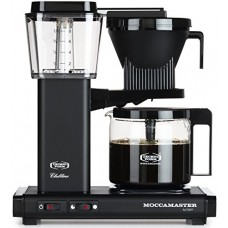 Technivorm Moccamaster 59656 KBG 741 AO 10-Cup 1.25-Liter Auto Drip-Stop Brew-Basket Coffee Brewer with Glass Carafe, 40-Ounce, Matte Black