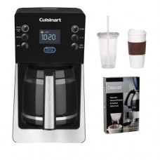 Cuisinart DCC-2800 DCC2800 Perfect Temp 14-Cup Programmable Coffeemaker (Black) w/ Coffee Mug & Iced Beverage Cup & Coffee/ Espresso Descaler