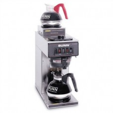12-Cup Two-Station Commercial Pour-O-Matic Coffee Brewer Color: Stainless Steel