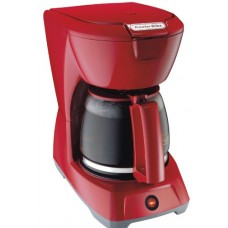 NEW Home Kitchen Bar Cafe' Compact 12 Cup Red Proctor Silex Coffee Maker Brewer