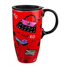 Just Can't Get Enough Ceramic Coffee Travel Mug With Gift Box