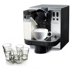 DeLonghi Lattissima Nespresso Metal Capsule Espresso and Cappuccino Machine with Free Set of 6 Glasses