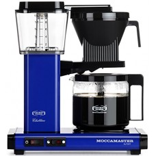 Technivorm Moccamaster 59643 KBG 741 AO 10-Cup 1.25-Liter Auto Drip-Stop Brew-Basket Coffee Brewer with Glass Carafe, 40-Ounce, Royal Blue