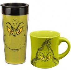 Dr. Seuss Grinch Travel & Ceramic Mug Set
