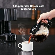 Bonsenkitchen 4-Cup One-Button Coffee Maker with Permanent Filter and Anti-Drip System (CM8760)