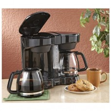 Dual Coffee Maker Black