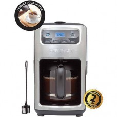 Farberware 12-cup Digital Programmable Coffee Maker, Stainless & Black