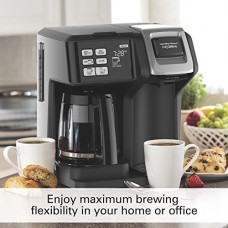 Hamilton Beach 49976 Flex brew 2-Way Brewer Programmable Coffee Maker, Black
