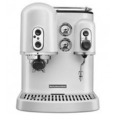 KitchenAid Pro Line Series Frosted Pearl White Manual Espresso Maker
