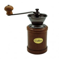 Manual Coffee Grinder with Wood Container