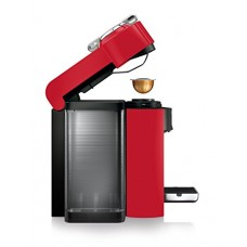 Nespresso Vertuo Evoluo Coffee and Espresso Machine by De'Longhi, Red