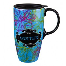 Chalk Garden Sister Ceramic Title Latte Travel Mug