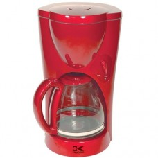 Kalorik CM-17408 900-Watt 10-Cup Coffeemaker with Glass Carafe, Red
