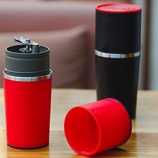 BleuMoo Manual Coffee Maker Hand Pressure Portable Espresso Machine Coffee Pressing Bottle (Red)