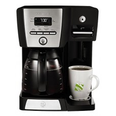 Mr. Coffee BVMC-DMX85 12-Cup Programmable Coffeemaker with Integrated Hot Water Dispenser, 16-Ounce, Black/Chrome