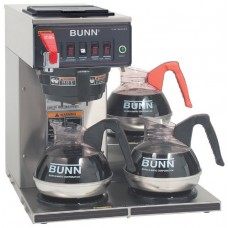 Bunn 12950.0252 CWTF35-3 Automatic Commercial Coffee Brewer with 3 Lower Warmers