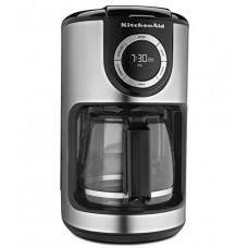 New Kitchenaid Black 12 Cup Glass Carafe Digital Coffee Maker Kcm1202ob