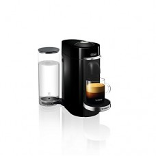 Nespresso VertuoPlus Deluxe Coffee and Espresso Maker Bundle with Aeroccino Milk Frother by De'Longhi, Black