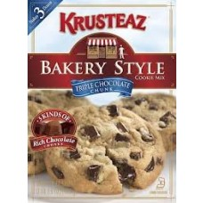 Krusteaz Cookie Mix, Triple Chocolate Chunk, 17.5-Ounce Boxes (Pack of 2)