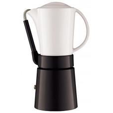 Aerolatte Cafe Porcellana Stove Top Espresso Maker, 4-Cup, Black by aerolatte