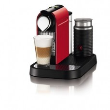 Nespresso C121-US-RE-NE1 Citiz Espresso Maker with Aeroccino Milk Frother, Red