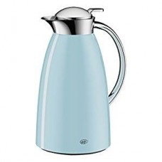 Alfi Gusto Glass Vacuum Lacquered Metal Thermal Carafe for Hot and Cold Beverages, 1.0 L, Powder Blue