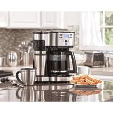 Hamilton Beach 49980Z - 2-Way Single Serve Coffee Brewer And Full Pot Coffee Maker (Certified Refurbished)