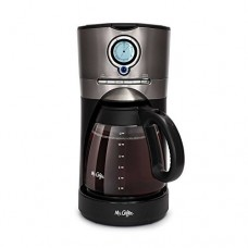 Mr.Coffee 12-Cup Programmable Automatic Coffee Maker in Black/Stainless Steel